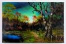 Herbstwald Bob Ross Ölbild 10388