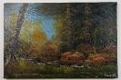 Herbstwald in der Daemmerung Bob Ross Ölbild 10333