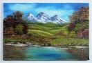 Landschaft Bob Ross Ölbild 10244