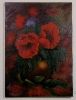 Mohnblume in Vase Bob Ross Ölbild 10228