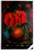 Mohnblumen in der Vase Bob Ross Ölbild 10424