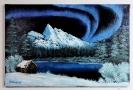 Nordlicht Bob Ross Ölbild 10358