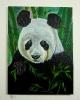 Panda Bob Ross Ölbild 10208