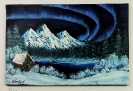 Polarlicht Bob Ross Ölbild 10348