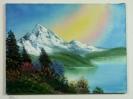 Regenbogen Bob Ross Ölbild 10240