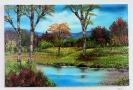 See im Herbstwald Bob Ross Ölbild 10373