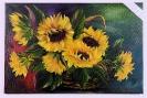 Sonnenblumen im Korb Bob Ross Ölbild 10463