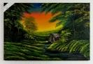 Sonnenuntergang an der Huette Bob Ross Ölbild 10432