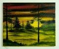Sonnenuntergang Bob Ross Ölbild 10234