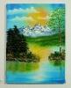 Sonnenuntergang Bob Ross Ölbild 10239