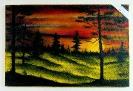 Sonnenuntergang Bob Ross Ölbild 10427