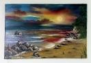 Strand Bob Ross Ölbild 10254