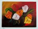 Tulpen im Korb Bob Ross Ölbild 10202