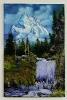 Wasserfall im Gebirge Bob Ross Ölbild 10405