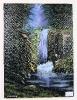 Wasserfall im Wald Bob Ross Ölbild 10308