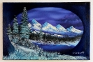 Winter im Gebirge Bob Ross Ölbild 10361