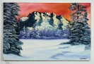 Winterlandschaft Bob Ross Ölbild 10243
