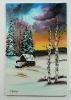 Winterlandschaft Bob Ross Ölbild 10349