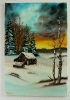 Winterlandschaft Bob Ross Ölbild 10389