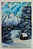 Winterwald Bob Ross Ölbild 10411