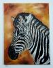 Zebra Bob Ross Ölbild 10215