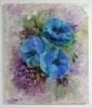 Blaue Mohnblumen Jenkins Art Ölbild 10453