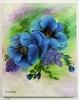blauer Mohn Jenkins Art Ölbild 10130