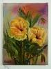 gelbe Rosen Ilse Wernhard Ölbild 10206