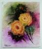 gelbe Rosen Jenkins Art Ölbild 10456