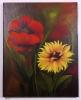 Mohn und Sonnenblume Ilse Wernhard Ölbild 10129