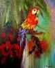 10.08.2019 Papagei mit Hibiskus