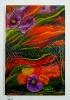 Abstrakte Blumen Ilse Wernhard Ölbild 10190