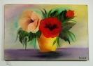 Blumen in Vase Ilse Wernhard Ölbild 10193