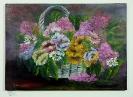 Blumenkorb Ilse Wernhard Ölbild 10230