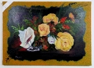 Blumentraum mit Muschel und Vogel Ilse Wernhard Ölbild 10462