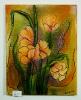 gelbe Tulpen mit Glitzer Ilse Wernhard Ölbild 10163