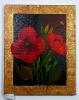 Mohnblumen mit Goldrand Ilse Wernhard Ölbild 10137