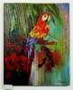 Papagei Ilse Wernhard Ölbild 10144