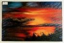 Sonnenuntergang am See Ilse Wernhard Ölbild 10315
