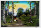 2 Kinder im Wald Ilse Wernhard Ölbild 10377