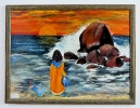 2 Maedchen am Strand Ilse Wernhard Ölbild 10291