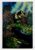 Abenddaemmerung im Herbstwald Bob Ross Ölbild 10350