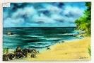 Abendstimmung am Strand auf Ruegen Ilse Wernhard Ölbild 10324