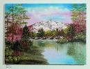 Berglandschaft Bob Ross Ölbild 10235