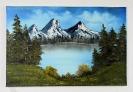 Bergsee Bob Ross Ölbild 10256