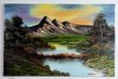 Bergsee Bob Ross Ölbild 10357