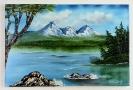 Bergsee Bob Ross Ölbild 10378
