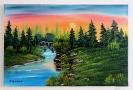 Die Bruecke Bob Ross Ölbild 10380