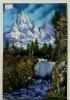 Gebirgswasserfall Bob Ross Ölbild 10312