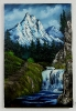 Gebirgswasserfall Bob Ross Ölbild 10328